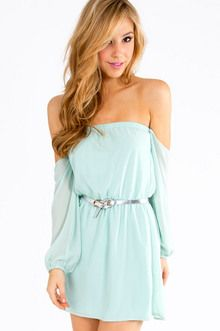 Show Me Shoulder Dress - casual - wedges