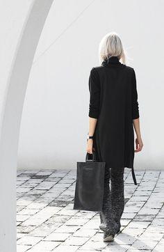 Street style fashion - black