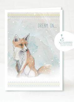 Fuchs Klappkarte - Dream on... von Illusines Spielwiese auf DaWanda.com