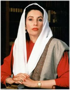 Benazir Bhutto, first woman Prime Minister of Pakistan. The love, courage and her devotion to her country is just amazing. She died while saving her country.