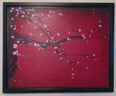 Think Spring with this Cherry Blossoming painting and add some colorful fun to a room!