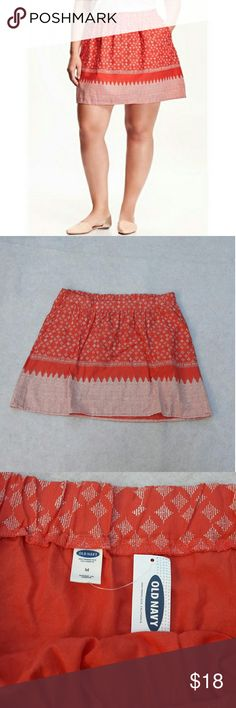 """Old Navy skirt Old Navy Women's Size Medium Coral Circle Elastic Waist Pull On Skirt  Length:16"""" ?Waist:16""""?  Nwt with no flaws. Please see photos for exact details. Thank you for patronizing us. Old Navy Skirts Circle & Skater"""