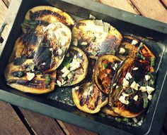 Marinated Grilled Eggplant with Herbs - Rosehips and Rhubarb