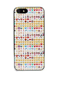 Take your emoji addiction outside of your iPhone! This awesome clip on case features an emoji pattern at back and mirrored detailing at sides..