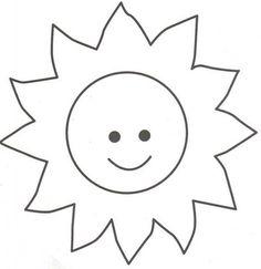 free printable sun cut out templates scrapbooking pinterest