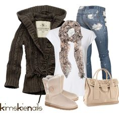 20 Cozy Combinations for Cold Days - Style Motivation Passion For Fashion, Love Fashion, Fashion Outfits, Womens Fashion, Fashion Trends, Fashion Ideas, Outfits 2016, Fall Winter Outfits, Autumn Winter Fashion