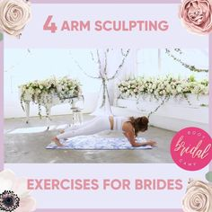 Wedding workout plan for brides looking for toned arms for their wedding dress. Be sure to tap over to all of the bridal bootcamp exercise plans for brides by Blogilates, and learn how to get great arms for your wedding day! Wedding Dreams, Dream Wedding, Wedding Day, Exercise Plans, Blogilates, Boot Camp Workout, Toned Arms, Pressure Points, Work Outs