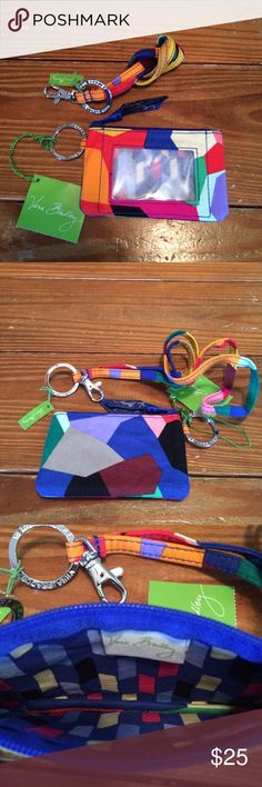 Vera Bradley Zip ID Case and Lanyard New with tags Vera Bradley ID case and Lanyard in Pop Art pattern. Vera Bradley Accessories Key & Card Holders