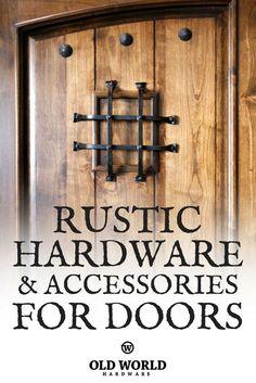 Shop Old World Hardware for Spanish Style Door Grills, Door Accents, Door & Gate Handles & more!