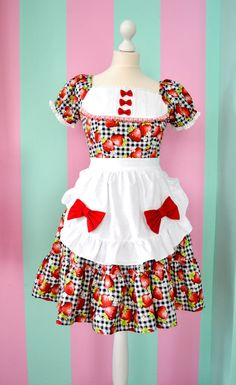 Cute country maid Lolita strawberry by MademoiselleOpossum on Etsy