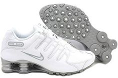 Women Nike Shox NZ SL Leather White/Silver Running Shoes