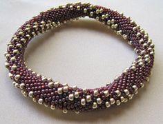 Bead Crochet Bangle Pattern  Double 8's by WearableArtEmporium, $7.50