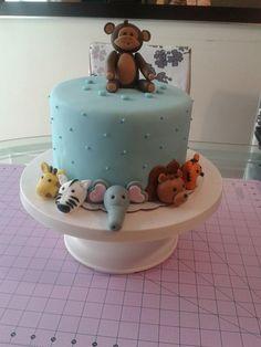 Zoo baby shower cake ...So cute