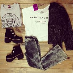 ★ Wishlist #04 | Remera Marc Jacobs | Buzo Ramones | Campera Cuero con tachas Chanel | Oxford Nevado | Borcegos Metallica