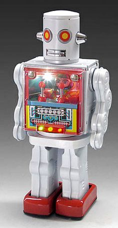 Metal House Battery Operated Cockpit Robot