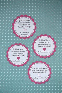 Vday lunch bag jokes (printable)