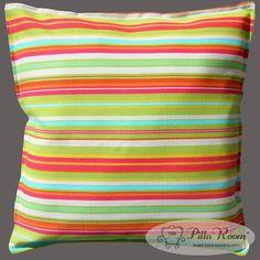Outdoor Throw Pillow Beach Umbrella Stripe Citron Waverly Sun N Shade