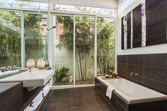Investment Property Bathroom & Landscape Investment Property, Alcove, Bathtub, Landscape, Interior Design, Bathroom, Fashion Design, Style, Standing Bath