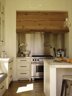 Ken Linsteadt Wood Kitchen Hood Remodelista