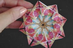 Teabag Folding 3 - Origami Twist Blog post links to 5 Teabag Folding videos.