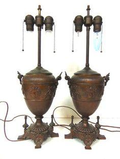 96: French Art Nouveau bronze & shell lamp - Nov 28, 2012 | Antiques Show in FL Mermaid Lamp, Art Nouveau, Shell Lamp, Bronze, 4 H, French Art, Shells, Candle Holders, Antiques