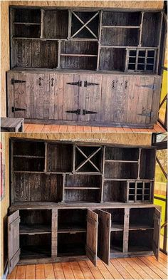 Use Pallet Wood Projects to Create Unique Home Decor Items – Hobby Is My Life Industrial Furniture, Pallet Furniture, Rustic Furniture, Furniture Ideas, Furniture Showroom, Cheap Furniture, Kitchen Furniture, Pallet Chair, Furniture Repair