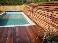 garden contempary timber fence - Google Search