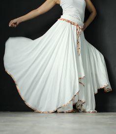 Circle Long Skirt Inspiration Maxi Skirt