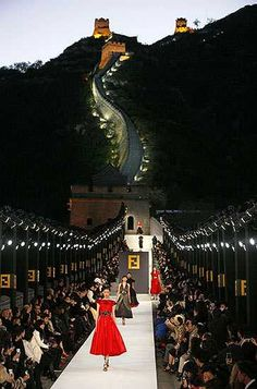 Fendi show, Great Wall of China.