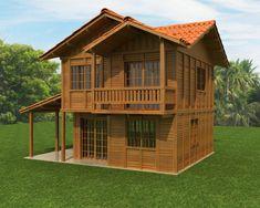 Bamboo House Design, Wooden House Design, Modern Wooden House, Timber House, Philippines House Design, Philippine Houses, Village House Design, Building A Cabin, Thai House