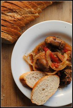 Crock pot sausage and onions...mmmm mmmm