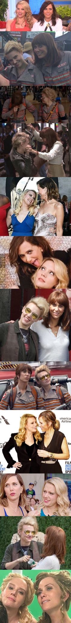 Kate and Kristen, I love their friendship (and I kinda ship them tbh) - Holtzbert - Jillian Holtzmann - Erin Gilbert - Kate McKinnon - Kristen Wiig - Ghostbusters 2016