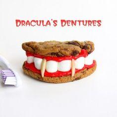 Spooky Halloween Party Recipes dracula-dentures-text
