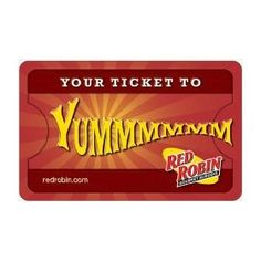 Red Robin Balloon Gift Card $100.00