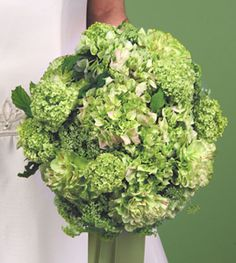 green+wedding+bouquets | green hydrangeas green carnations green hydrangeas with viburumn price ...