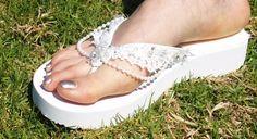 White Wedding Sandals 100% Vegan by NewBrideCo on Etsy