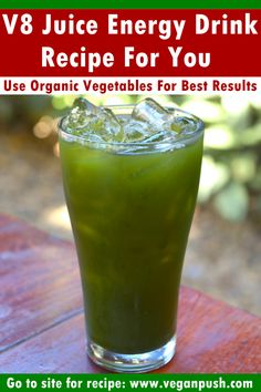 V8 Juice - Energy Drink Recipe For You | Vegan Push