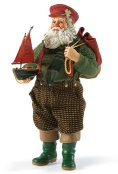 MAY THE WIND BE AT YOUR BACK | Santa Claus Figurines and Hand Carved Wooden Santas