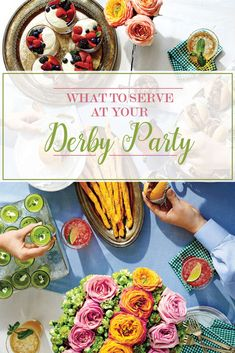 Kentucky Derby Food, Kentucky Derby Party Ideas, Derby Recipe, Brunch, Derby Day, Churchill Downs, Julep Recipe, Elegant, Party Games