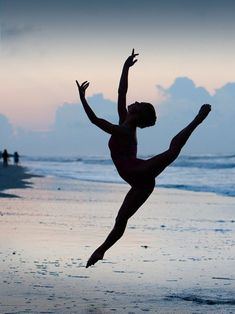 There's something about a dancer's silhouette on a beach that' jut magic.