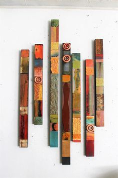 Tin Tiles, Tin Ceiling Tiles, Ceiling Decor, Totems, Fall Forward, Tuile, Painted Sticks, Wood And Metal, Metal Art
