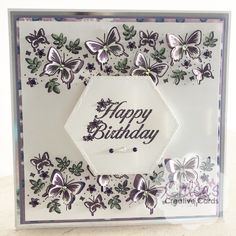 Stamps by Chloe Beautiful Butterfly Border Stamp and Die Chloes Creative Cards, Handmade Birthday Cards, Handmade Cards, Stamps By Chloe, Create And Craft Tv, Diy Birthday Decorations, Cardmaking And Papercraft, Butterfly Cards, Card Sketches