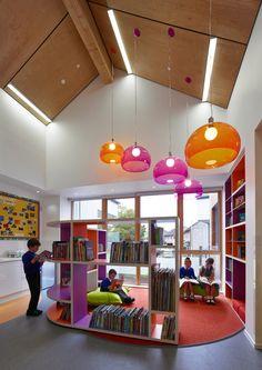 Gallery of Kirkmichael Primary School / Holmes Miller – 7 - Vorschule School Library Design, Kids Library, Classroom Design, School Classroom, Open Library, Primary School, Elementary Schools, Kindergarten Design, Inspired Learning