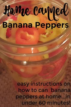 """Banana peppers offer amazing flavor to any dish. Preserve them this summer and enjoy the """"fruits"""" of your labor all winter. Home canned banana peppers. Canned Banana Peppers Recipe, Sweet Banana Peppers, Stuffed Banana Peppers, Stuffed Sweet Peppers, Pickled Pepper Recipe, Pickled Sweet Peppers, Pickled Banana Peppers, Pickled Okra, Canning Vegetables"""