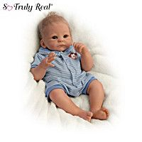 Benjamin So Truly Real Lifelike & Realistic Weighted Newborn Baby Boy Doll by The Ashton-Drake Galleries Boy Baby Doll, Newborn Baby Dolls, Cute Baby Dolls, Life Like Babies, Real Life Baby Dolls, Reborn Dolls, Reborn Babies, Reborn Toddler, Blythe Dolls
