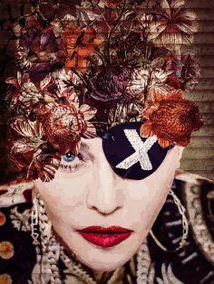Madonna Tattoo, Portrait, Halloween, Canvas, Prints, Art, Products, Art Prints, Wall Canvas