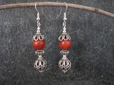 Jewelry Silver earrings Filigree earrings by MorSilverJewelry Coral Earrings, Filigree Earrings, Ring Earrings, Sterling Silver Earrings, Silver Jewelry, Bracelets, Necklaces, Delicate, Pendant Necklace