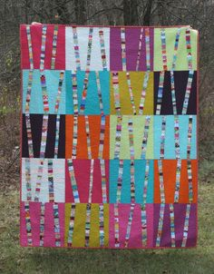 crazy mom quilts: bright birch trees