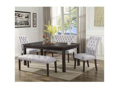 crown mark palmer diningdining set with bench