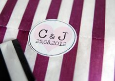 Favour Bags With Personalised Stickers